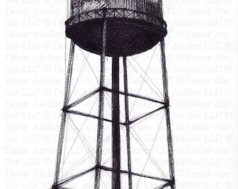Brooklyn Water Tower drawing