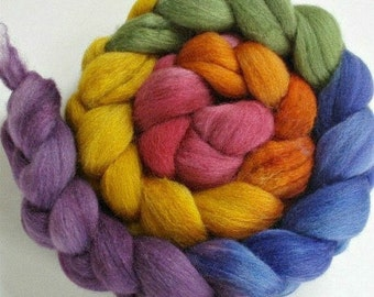 BFL/Silk Hand Dyed Rainbow Gradient 4 Oz/113 Grams
