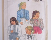 Vintage sewing pattern blouse peter pan collar Simplicity 7013 cut on size 5
