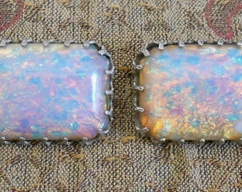 1930's Opalescent Stone Pins