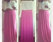 Maxi skirt- pleated