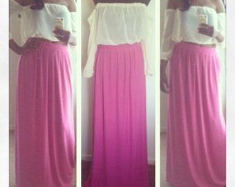 Maxi skirt- pleated