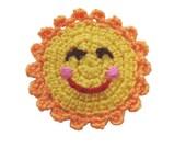 crocheted sun applique