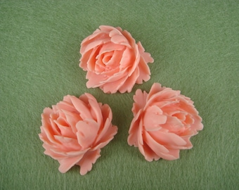 10% OFF - 39-00-182-CA  4pcs Cabbage Rose Cabochon -Pinlk
