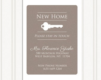New Home Announcement - Change of address card
