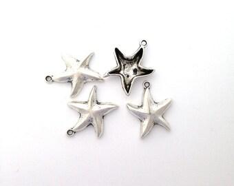Lead Free Pewter Starfish Charm    (EF5151)   SRA-D84