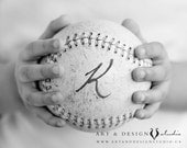 Personalize Nursery Decor, Baseball Photo, Personalized Print Childs Name Birth Date, Personalized Name Art, Baseball Print, Sports Prints