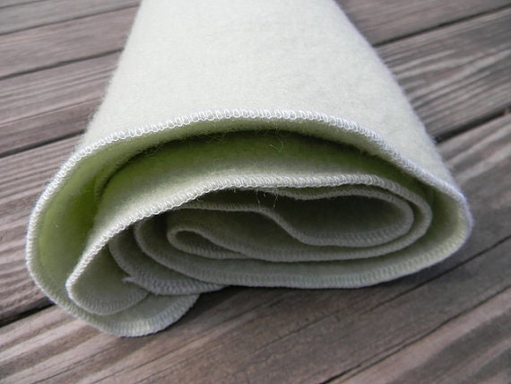 "Organic Pure 100% Wool Changing Mat Puddle Pad Travel Mat In Pale Mint 21,5""X28,5"""
