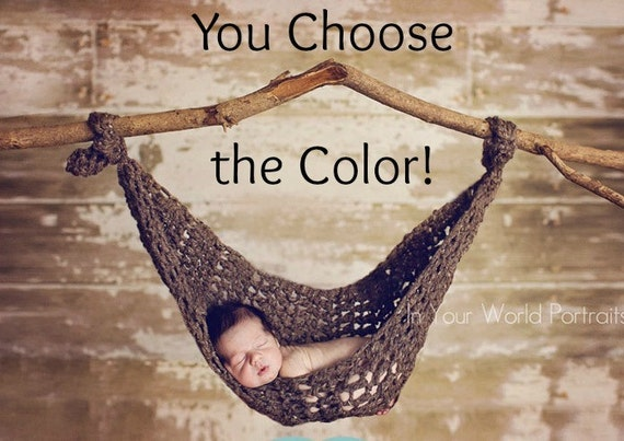Baby Hammock Newborn Photography Prop - You Choose Color
