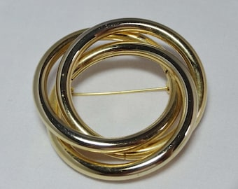 Gold Plated Infinity Ring Brooch Apparel & Accessories Jewelry Vintage Jewelry Brooch