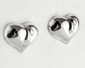 Hearts Sterling Silver Post Earrings