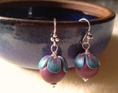 Earrings: Hint of Spring with  Pips Jewellery  beads