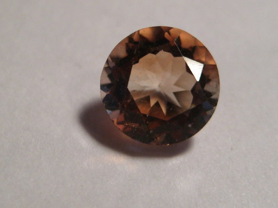 imperial topaz faceted gemstone 8 mm by creativecabs