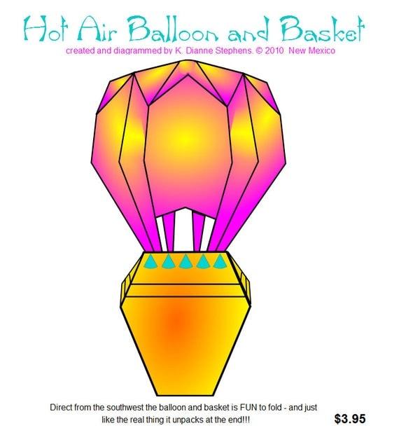Origami Balloon Diagram to Origami Hot Air Balloon