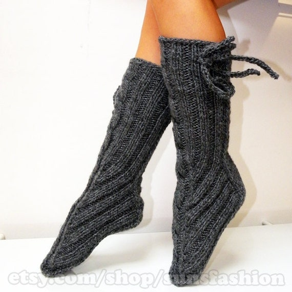 Winter Accessories gray Knitted Socks boots autumn Legwear Fashion Accessories
