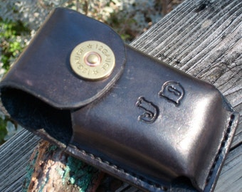Leather Flip Phone Case w/ belt loop and concho snap