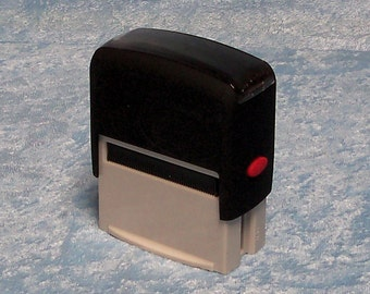 Self-inking rubber stamp, area for stamp approximately 1-15/16 by 3/4 inches,  customized FREE