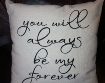 16x16 Personalized Pillow - Perfect for Wedding Gift