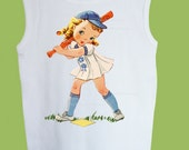 Retro Baseball Girl Tank, T-Shirt or One Piece Baby by ChiTownBoutique.etsy