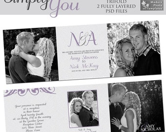 Simply You Wedding Trifold- custom photo templates for photographers on WHCC Specs