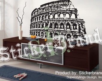 Vinyl Wall Decal Sticker Roman Colosseum Rome Italy item 354A