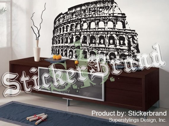 Vinyl wall decal sticker roman colosseum rome italy item 354a for Wall stickers roma