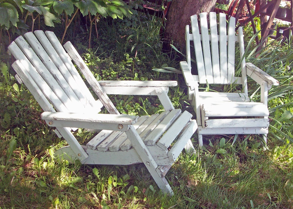 Vintage Adirondack Chair Child Size Chippy By
