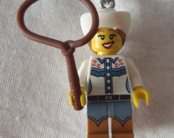 Custom Cowgirl Necklace Made With Genuine LEGO® Bricks