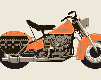 Orange 1950 MOTORCYCLE