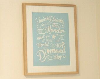 Twinkle Twinkle Little Star - Nursery Art Print - Digital File