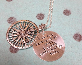 My True North - Solid Sterling Rose Compass Replica Necklace