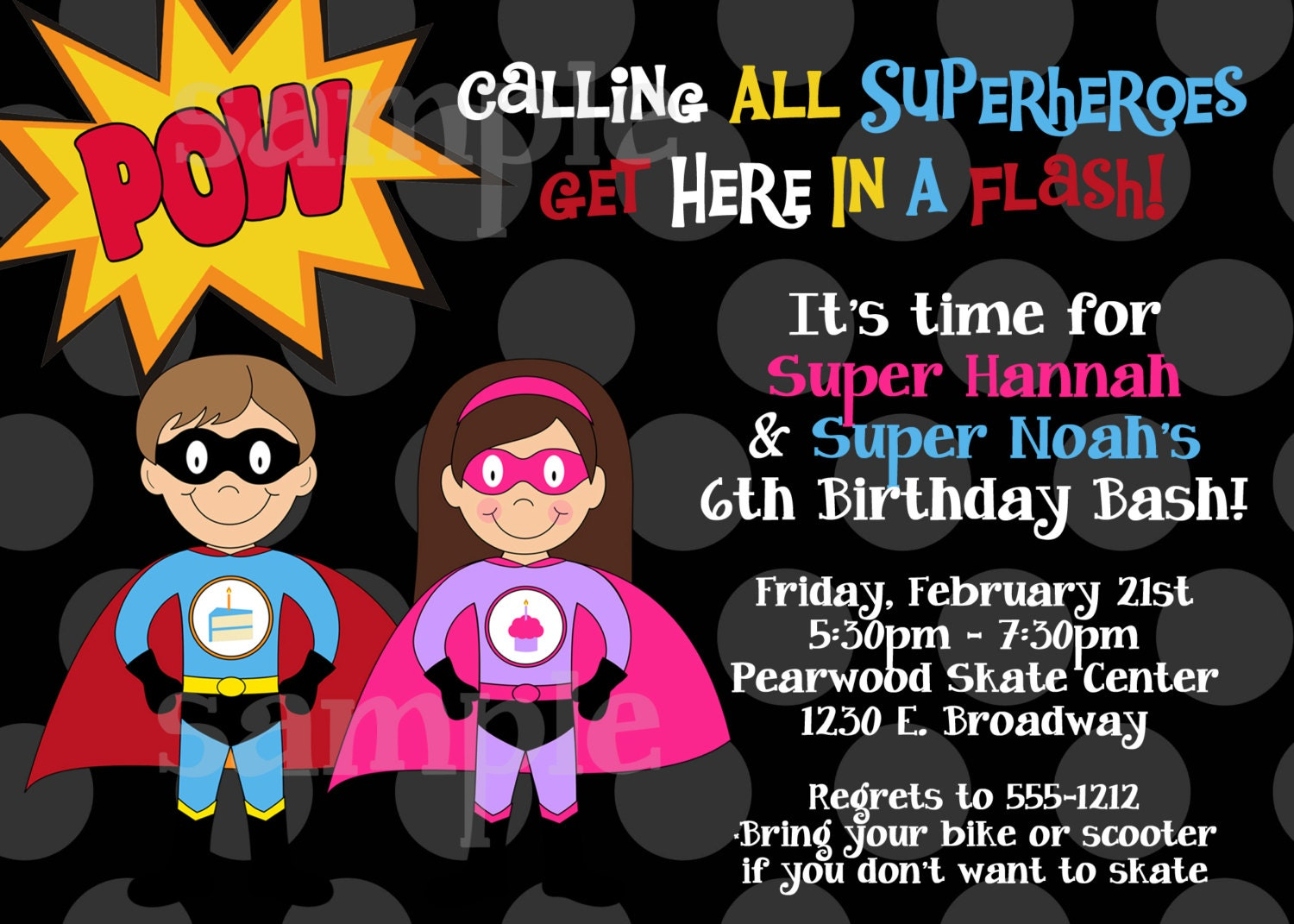 zoom - Superhero Birthday Party Invitations