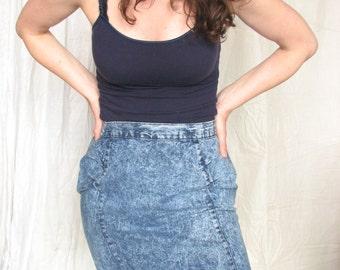 PINWHEELS Stonewash Mini Jean Skirt