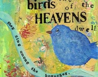 Beside Them the Birds of the Heavens (Christian art print)