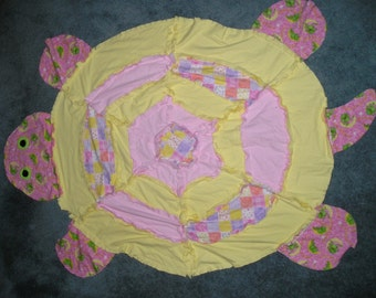 Turtle Shape Flannel Fabric Rag Quilt