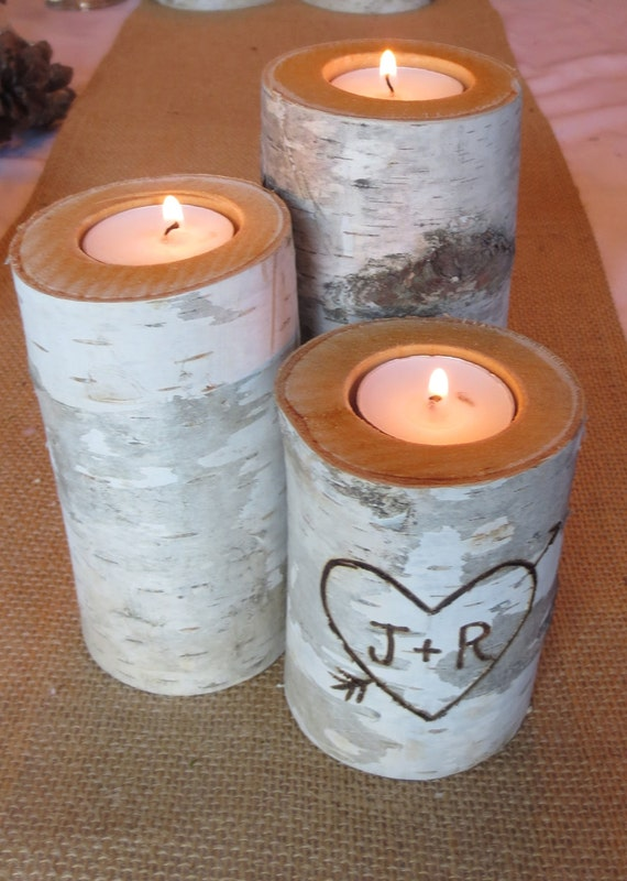 personalized candle set -- Valentine's Day gift