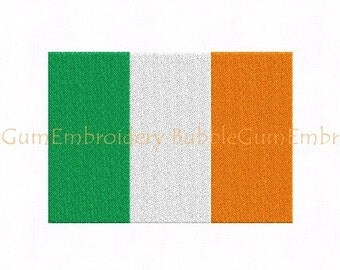 Irish Flag Embroidery Design Instant Download