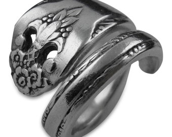 Eco Friendly Silverware Jewelry, Spoon Ring - Lovely Lady