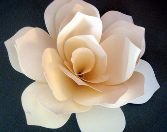 7 to 8 Inch Paper Flower for your Wedding  Luncheon Table Decor Any Color you Choose