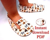 Sewing Pattern for Child's Loafer Shoes - PDF sewing pattern