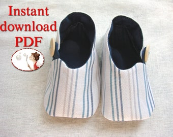 Baby. Shoes. Asian Style. Easy. Sewing. Pattern.  0-24 months