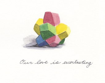 Everlasting Gobstopper Love, greeting card 5x7