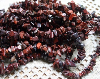 Brecciated Jasper 36 Inch Strand Chips Gemstone Beads 12x5mm