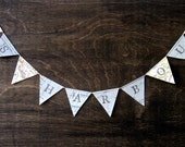 Teacher Name Banner - Personalized Teacher Gift Made from Vintage Maps