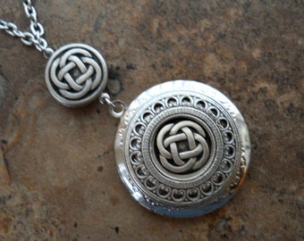 Double Celtic Knot Enchanted Irish Locket