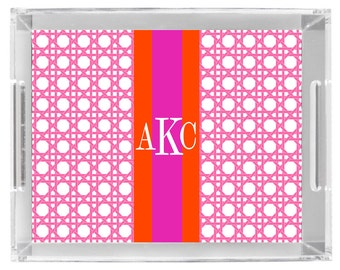 Lucite Serving Tray Personalized custom monogram tray