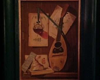 Vintage Mandolin Still Life Print