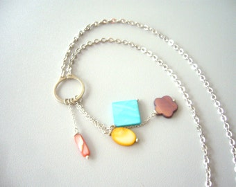 Tassel shell necklace in many colours