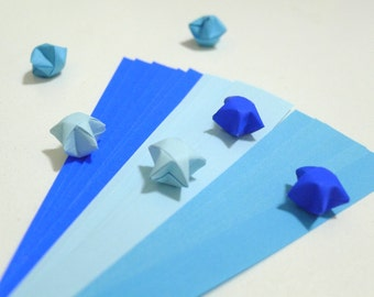 Summer Bliss - Ocean Blue Origami Lucky Star Paper Strips - pack of 90 strips