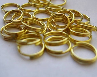 Double Jump Rings, Split Rings, Gold, 8mm, 100 Pieces, Nickel Free, Other Colors Available